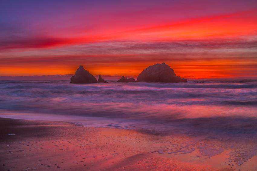 San Francisco Ocean Beach Sunset Mark Lilly Fine Art Photography