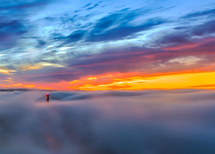 Marin Headlands Golden Gate Bridge San Francisco Bay Area Fog California Hawk Hill Mark Lilly Fine Art Landscape Photography Mark Lilly Panorama